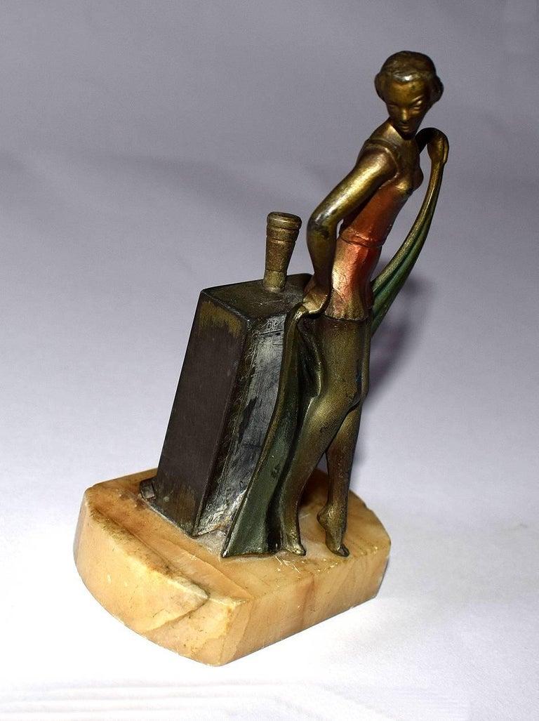 European 1930s Art Deco Figural Lighter For Sale