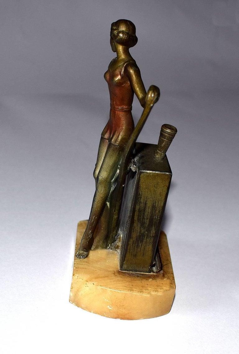 20th Century 1930s Art Deco Figural Lighter For Sale