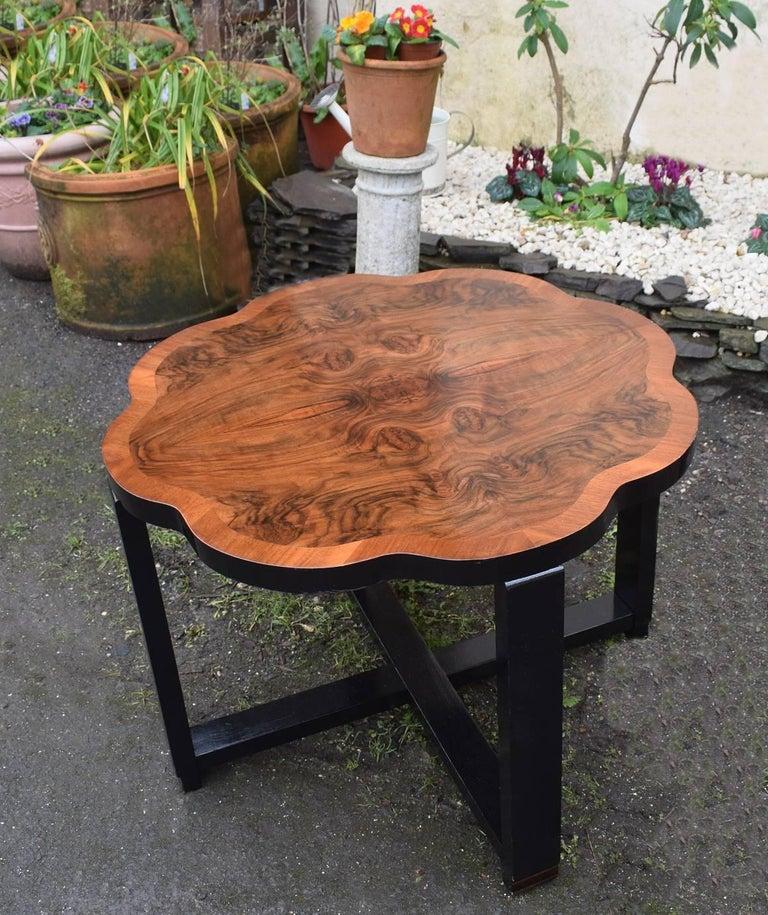 20th Century Art Deco Walnut Centre Table For Sale