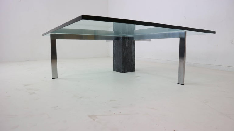 Hank kwint for metaform kw 1 coffee table for sale at 1stdibs One piece glass coffee table