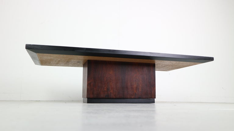 Mid-Century Modern Heinz Lillienthal Copper plated Coffee Table, Germany, 1970 For Sale