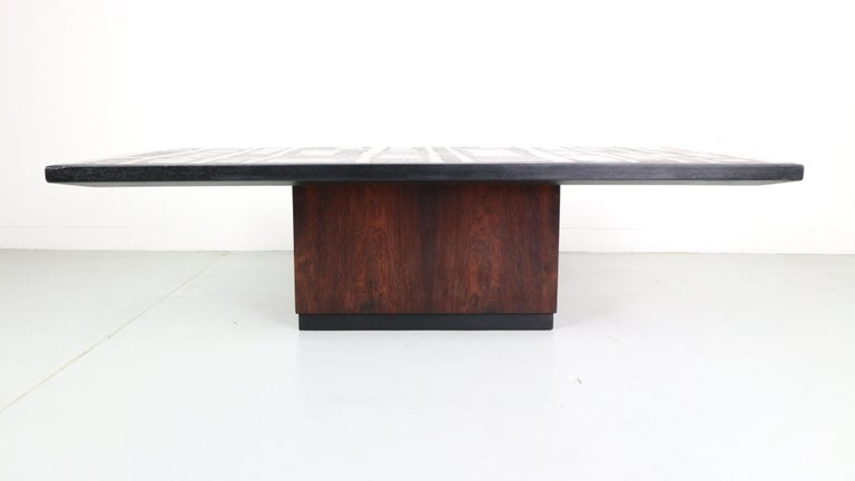 Late 20th Century Heinz Lillienthal Copper plated Coffee Table, Germany, 1970 For Sale
