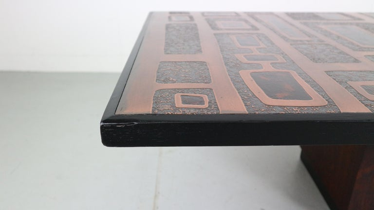 Heinz Lillienthal Copper plated Coffee Table, Germany, 1970 In Good Condition For Sale In The Hague, NL