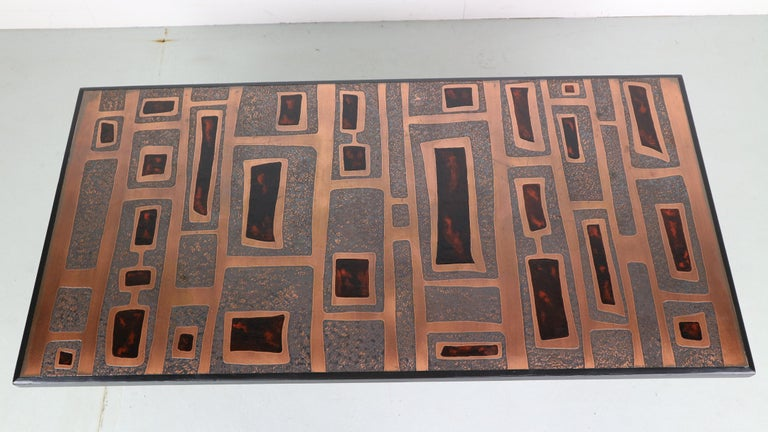 Heinz Lillienthal Copper plated Coffee Table, Germany, 1970 For Sale 1
