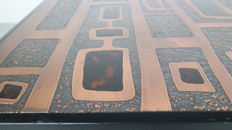 Heinz Lillienthal Copper plated Coffee Table, Germany, 1970 For Sale 5