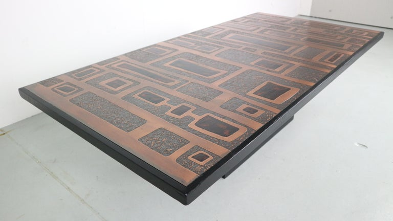Heinz Lillienthal Copper plated Coffee Table, Germany, 1970 For Sale 6