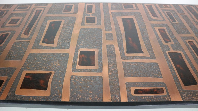 Heinz Lillienthal Copper plated Coffee Table, Germany, 1970 For Sale 8