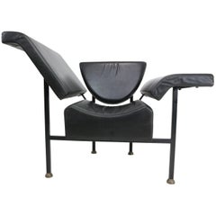 Rob Eckhardt 'Greetings from Holland' Chaise Leather Longue, 1983