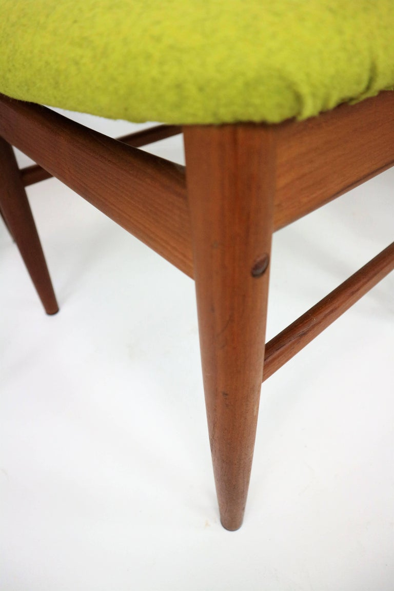 Four Danish Modern Teak Dining Chairs By Benny Linden For