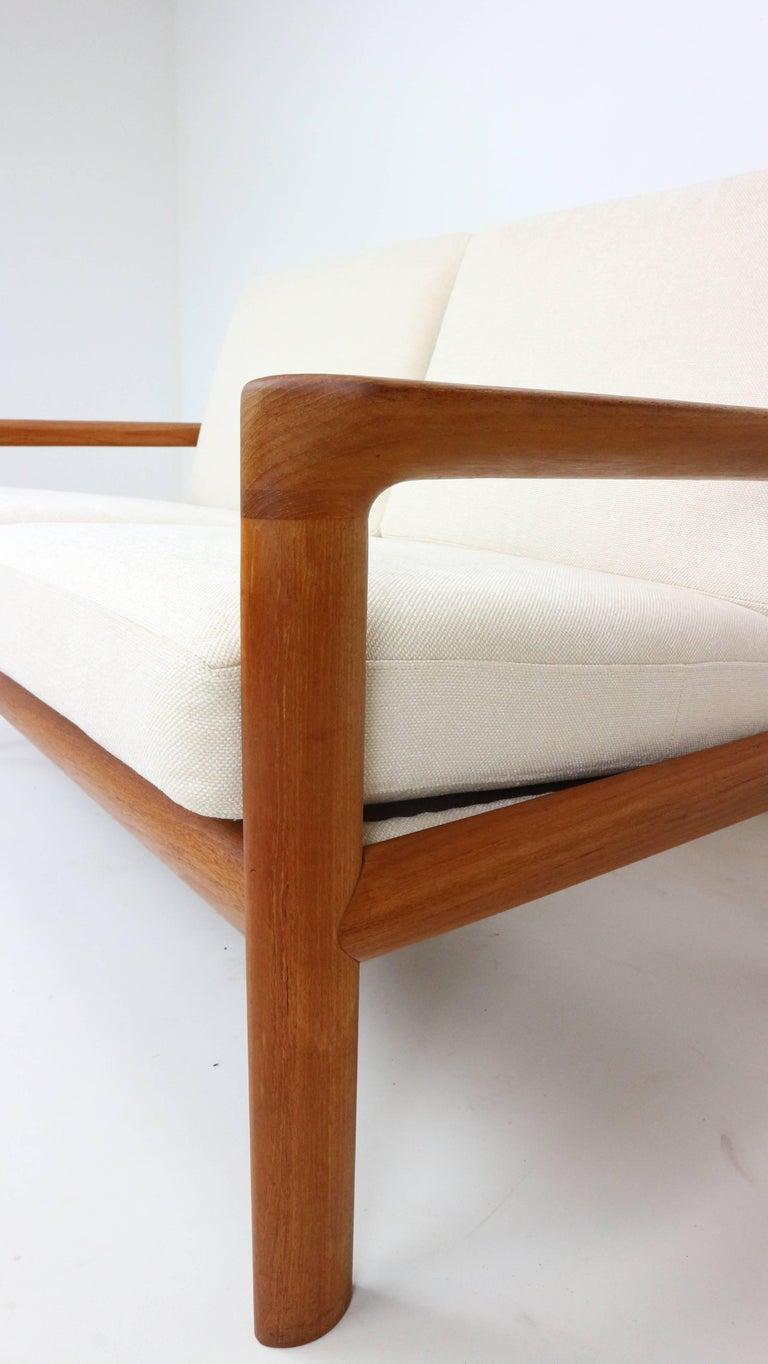 Mid-20th Century Danish Teak Two-Seat Sofa by Sven Ellekaer for Komfort, 1960s For Sale