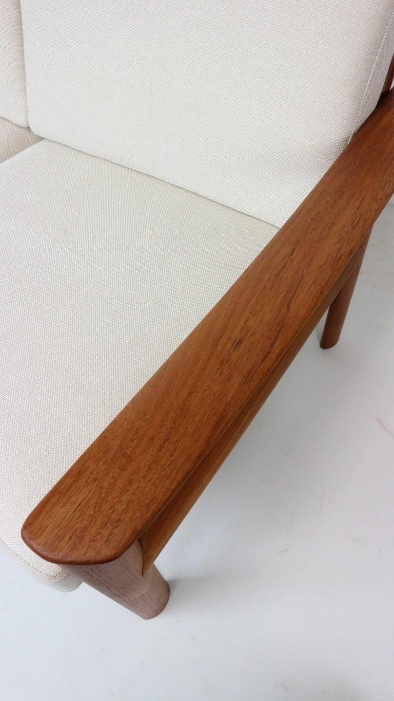Danish Teak Two-Seat Sofa by Sven Ellekaer for Komfort, 1960s For Sale 2