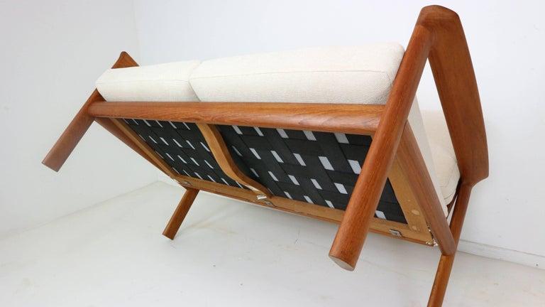 Danish Teak Two-Seat Sofa by Sven Ellekaer for Komfort, 1960s For Sale 5