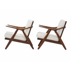 Pair of Arne Hovmand-Olsen Lounge Chairs for Randers Mobelfabrik