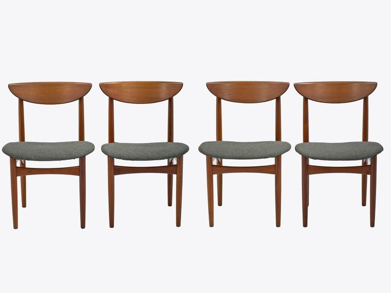 mid century dining chairs set of eight in teak by kurt ostervig for kp mobler - Dining Chairs Set Of 4