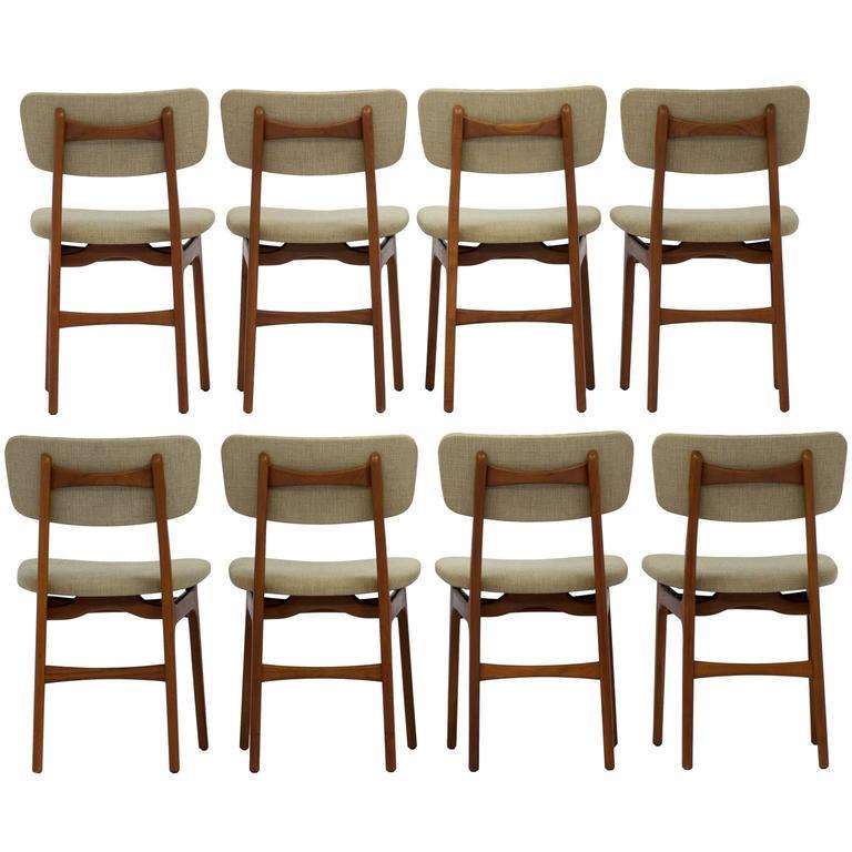 Danish Dining Chair mid-century danish dining chairs teak set of eight gustav