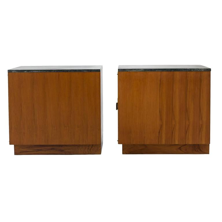 Pair Of Mid Century Side Cabinets Or End Tables In Teak