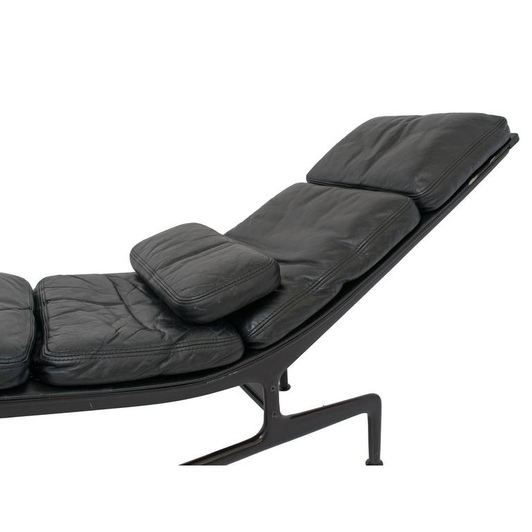 Charles eames for herman miller chaise for billy wilder in black for sale at - Charles eames chaise ...