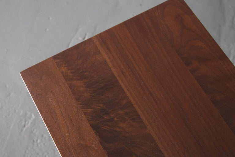 Minimalist Solid Wood Dining Room Bench in Dark Walnut, by BELLBOY For Sale