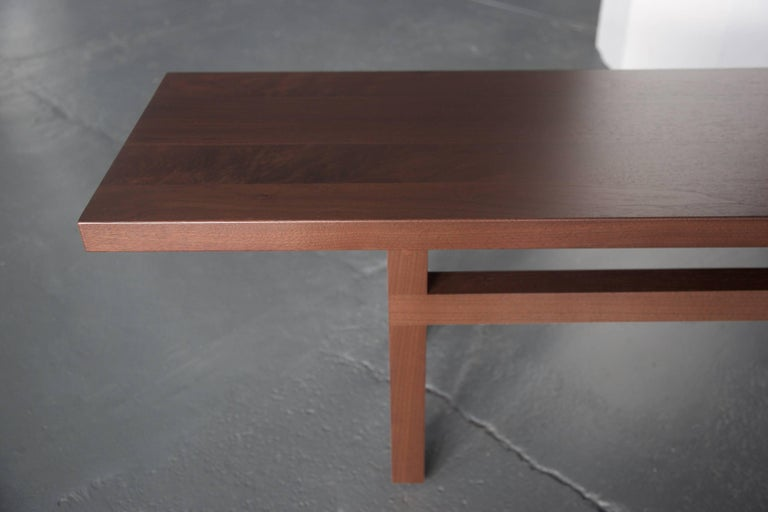 American Solid Wood Dining Room Bench in Dark Walnut, by BELLBOY For Sale