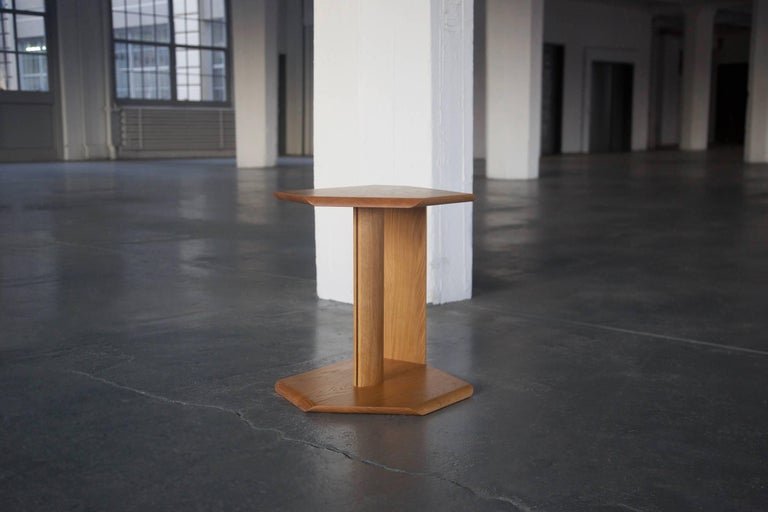 Hand-Crafted Geometric Solid Wood Reflecting Side Tables by BELLBOY For Sale