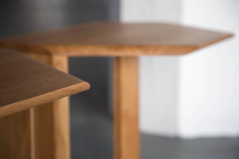 Geometric Solid Wood Reflecting Side Tables by BELLBOY In New Condition For Sale In Brooklyn, NY