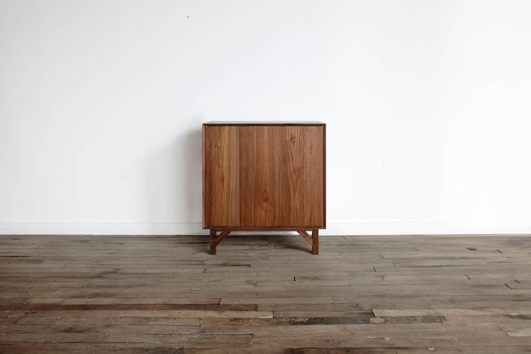 La Credenza Meaning : Walnut hi fi credenza with touch latch doors and hand rubbed oil