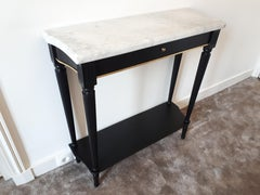 French Louis XVI Style Console Marble Top