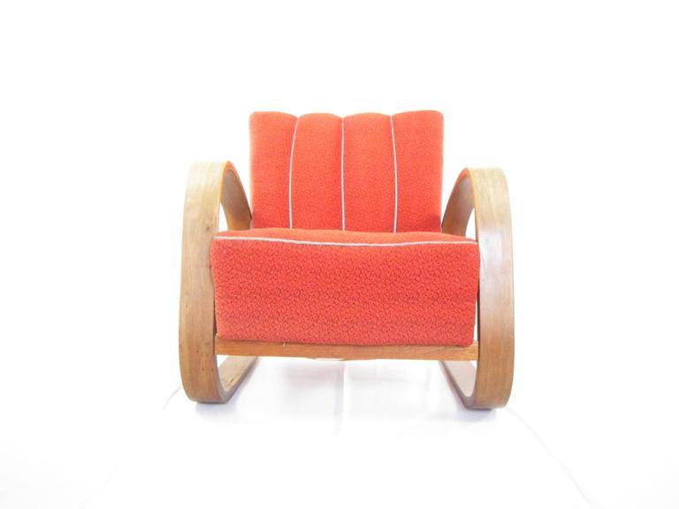 Rare Czech Lounge Chair In Alvar Aalto S Style 1940s For