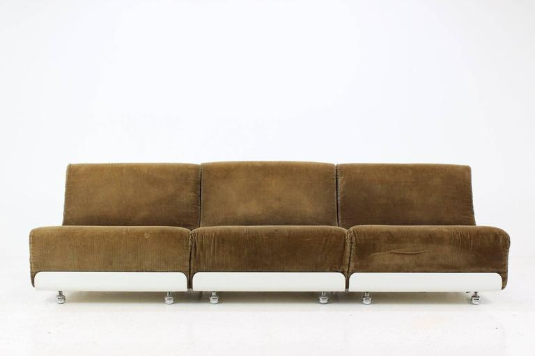 This Set Of Three Vintage Sofa Units Was Designed By Luigi Colani, And  Manufactured In