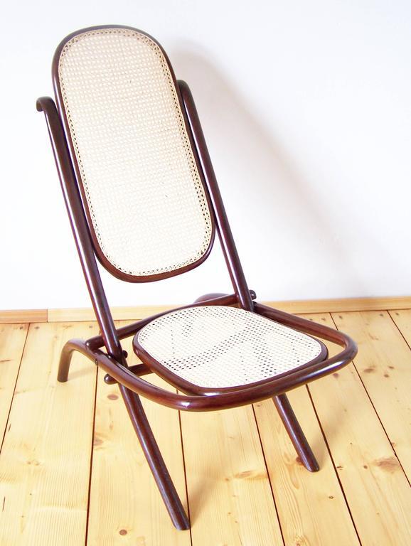 Folding Chair Gebr 252 Der Thonet No 1 Circa 1867 At 1stdibs