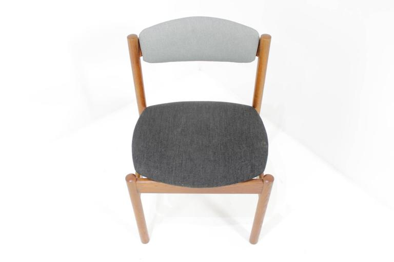 Mid-Century Modern Set of Four Danish Oak Dining Chairs, 1960s For Sale