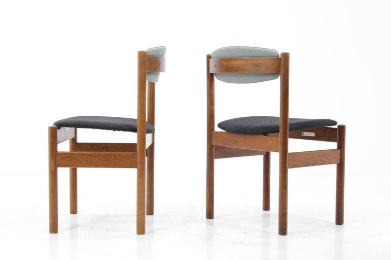 Oiled Set of Four Danish Oak Dining Chairs, 1960s For Sale