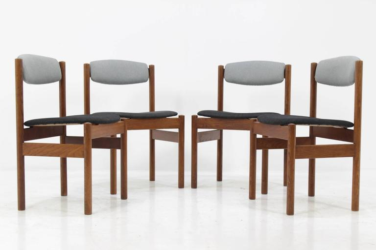 Set of Four Danish Oak Dining Chairs, 1960s For Sale 2