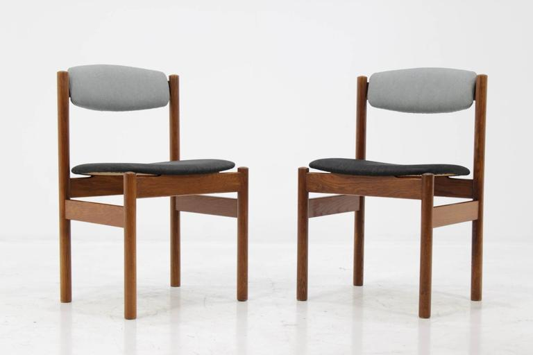Set of Four Danish Oak Dining Chairs, 1960s For Sale 1