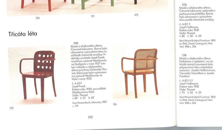 Chairs Thonet A811/4, Josef Hoffman 3