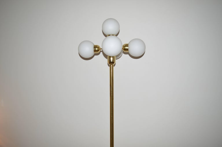 Midcentury Floor Lamp Kamenický Šenov, Czech Republic, 1970s In Good Condition For Sale In Barcelona, ES