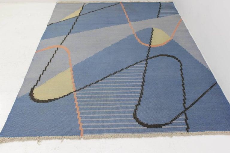 Geometric Modernist Kilim Carpet by Antonín Kybal In Good Condition For Sale In Praha, CZ