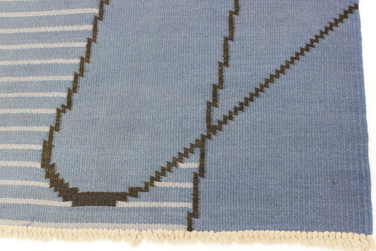 Czech Geometric Modernist Kilim Carpet by Antonín Kybal For Sale