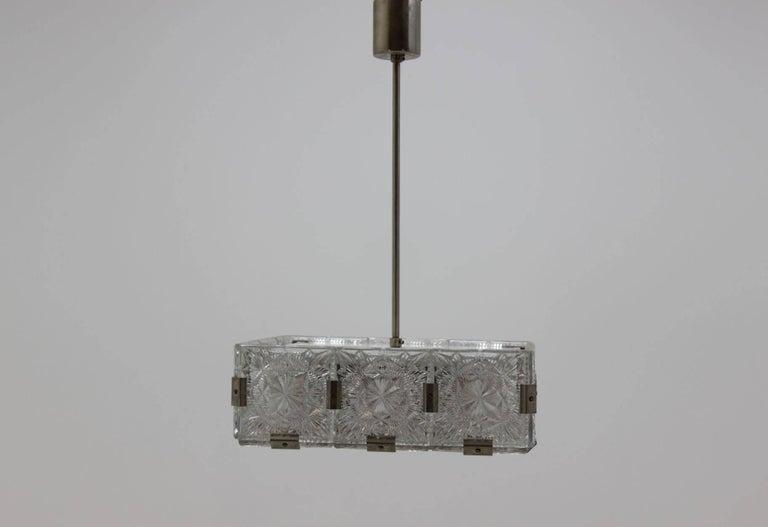 Mid-Century Modern Midcentury pendant chandelier Kamenicky Šenov, Czech Republic, 1970s For Sale