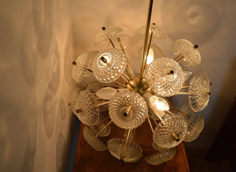 Midcentury Big Pendant Chandelier Dandelion Sputnik Kamenický Senov, 1970s For Sale 1