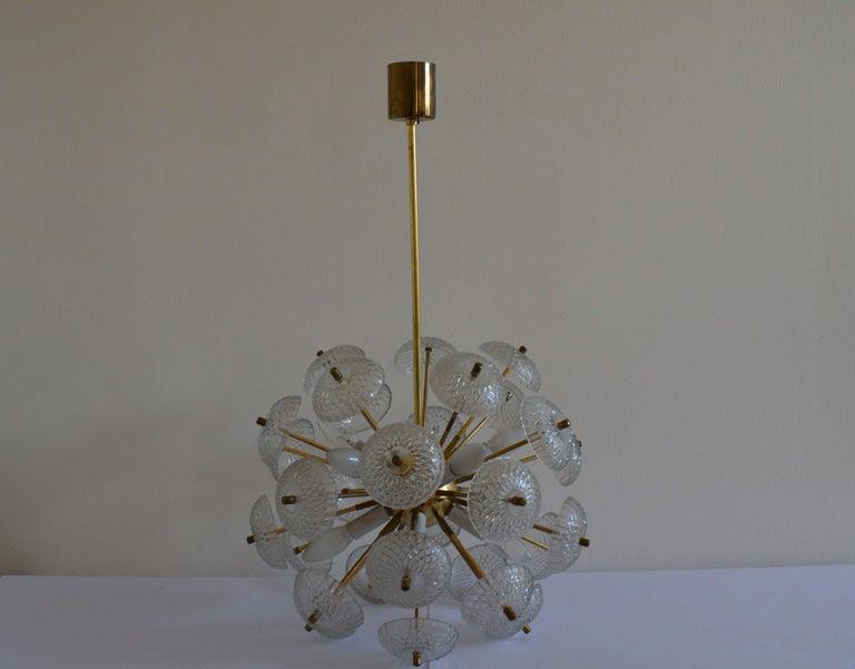 Mid-Century Modern Midcentury Big Pendant Chandelier Dandelion Sputnik Kamenický Senov, 1970s For Sale