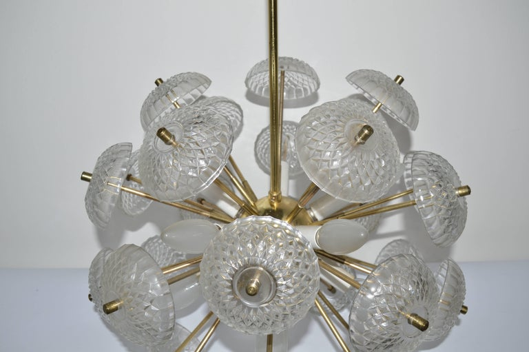 Midcentury Big Pendant Chandelier Dandelion Sputnik Kamenický Senov, 1970s In Good Condition For Sale In Barcelona, ES