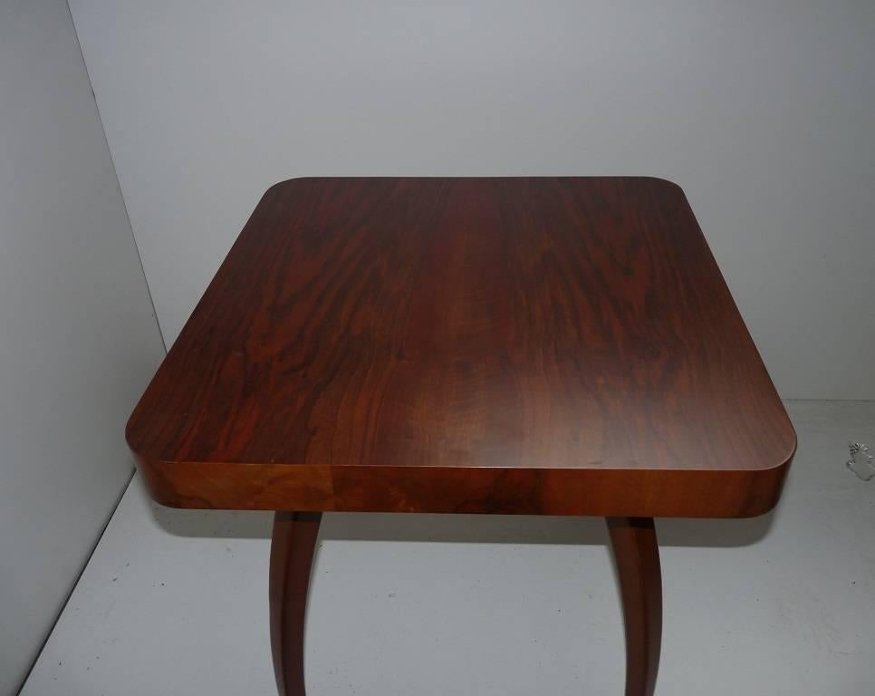 Czech Midcentury Coffee Table Designed By Jindrich Halabala, 1960s For Sale