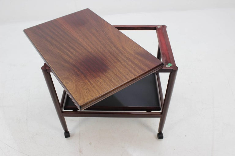 Mid-20th Century Expandable Mahogany Serving Cart by Børge Mogensen for Fredericia, Denmark For Sale