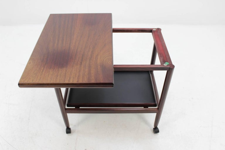 Expandable Mahogany Serving Cart by Børge Mogensen for Fredericia, Denmark For Sale 1