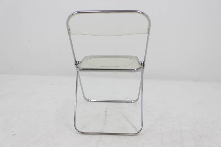 Mid-20th Century Midcentury Folding Chair Plia by Giancarlo Piretti for Castelli, 1960s. For Sale