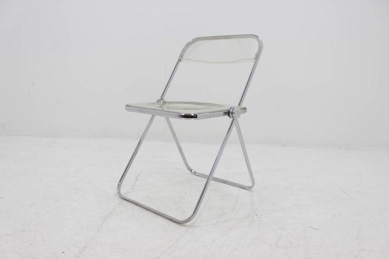 Mid-Century Modern Midcentury Folding Chair Plia by Giancarlo Piretti for Castelli, 1960s. For Sale