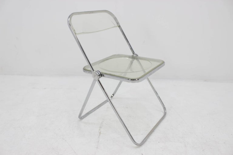 Midcentury Folding Chair Plia by Giancarlo Piretti for Castelli, 1960s. For Sale 4