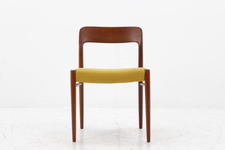 Mid-20th Century 1960 Niels O. Møller Model 75 Chairs in Teak for J.L. Møllers, Set of Four For Sale