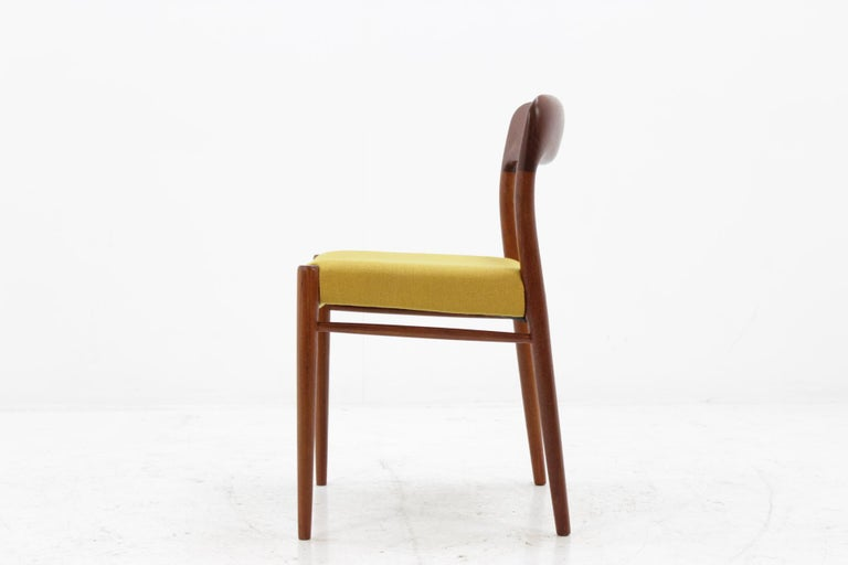 1960 Niels O. Møller Model 75 Chairs in Teak for J.L. Møllers, Set of Four For Sale 1